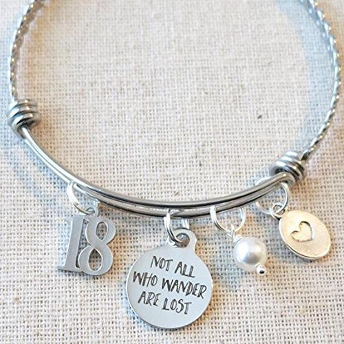 18th BIRTHDAY Gift For Girls Not All Who Wander Are Lost Inspirational