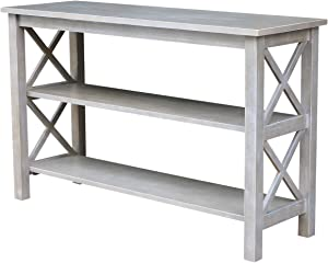 International Concepts Hampton Console Table, Washed Gray Taupe