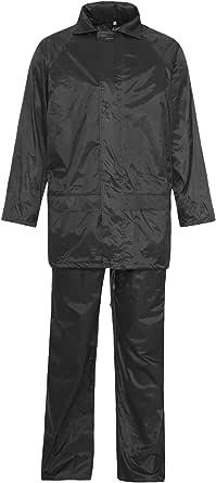 Rimi Hanger Mens Long Sleeve PVC Rainsuit Womens Work Wears Waterproof Rainwear Costume S/4XL