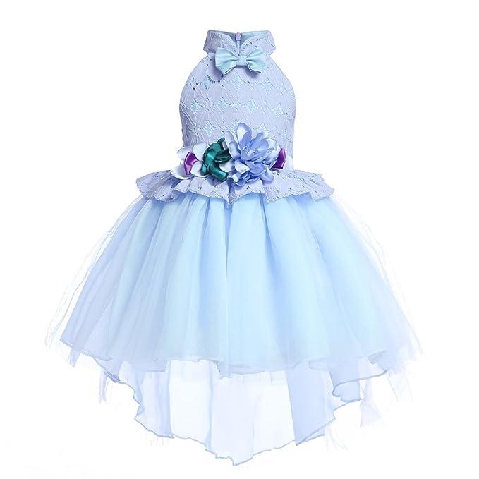 a273a06c6a2c4 AIMJCHLD 2-10T Kids Hi-Lo Party Formal Dresses Princess Girls Gorgeous  Flower Girl Dress