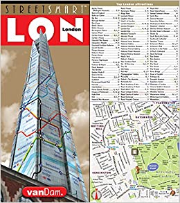streetsmart london map by vandam city street map of london england laminated folding pocket size city travel and tube map with all museums attractions