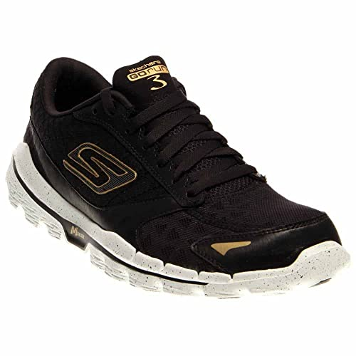 efe41a8768142f Skechers Men s Black and Gold Running Shoes - 7 UK India (41 EU) (8 ...