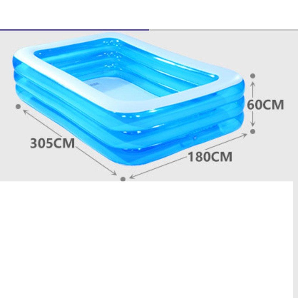 Große Familien-Pool/Baby Schwimmbad/Baby Spiel Pool/Marine Kugeln Pool/Quadratische aufblasbare Schwimmbecken-C