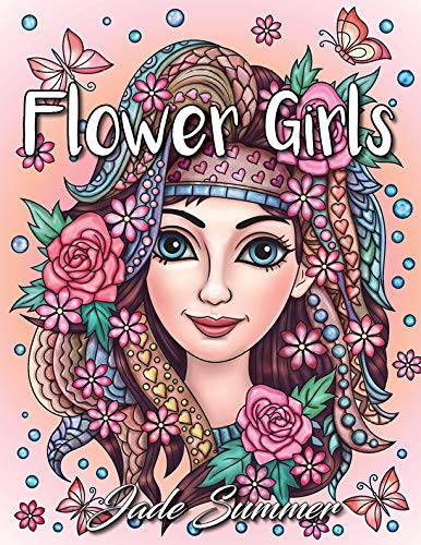 Pdf History Flower Girls: An Adult Coloring Book with Cute Manga Girls, Fun Hair Styles, and Beautiful Floral Designs for Relaxation