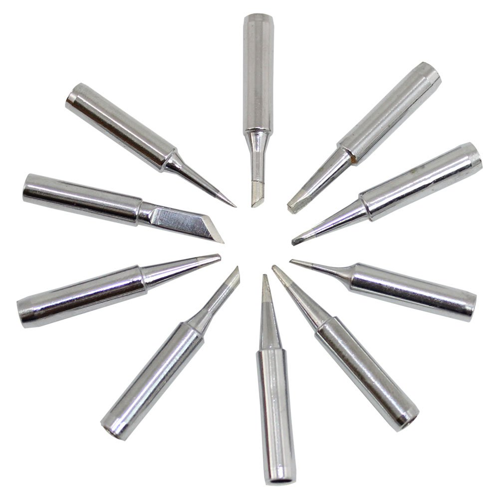 Set of 10 standard sized soldering tips KD-M-TIPSET for CSI and BK brands Circuit Specialists