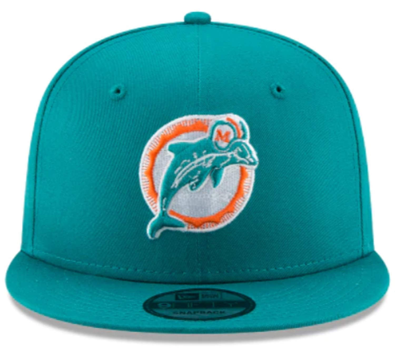 05f74efa Amazon.com : New Era Miami Dolphins Hat NFL Teal Team Color Historic ...