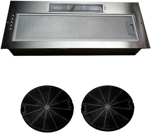 Universal 750 mm 75 cm para campana extractora de la cocina del pabellón del ventilador Extractor integrado bajo el Motor doble se suministra con un conjunto de filtros de carbón: Amazon.es: Hogar