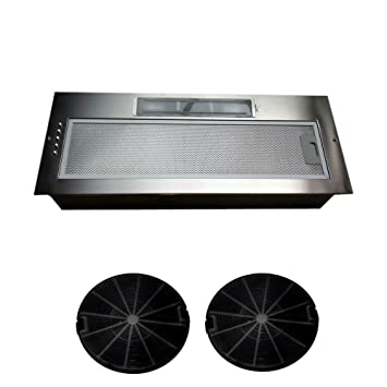 Universal 750MM 75CM Kitchen Canopy Cooker Hood Fan Extractor Built Under Supplied with set of charcoal filters Parts & Accessories