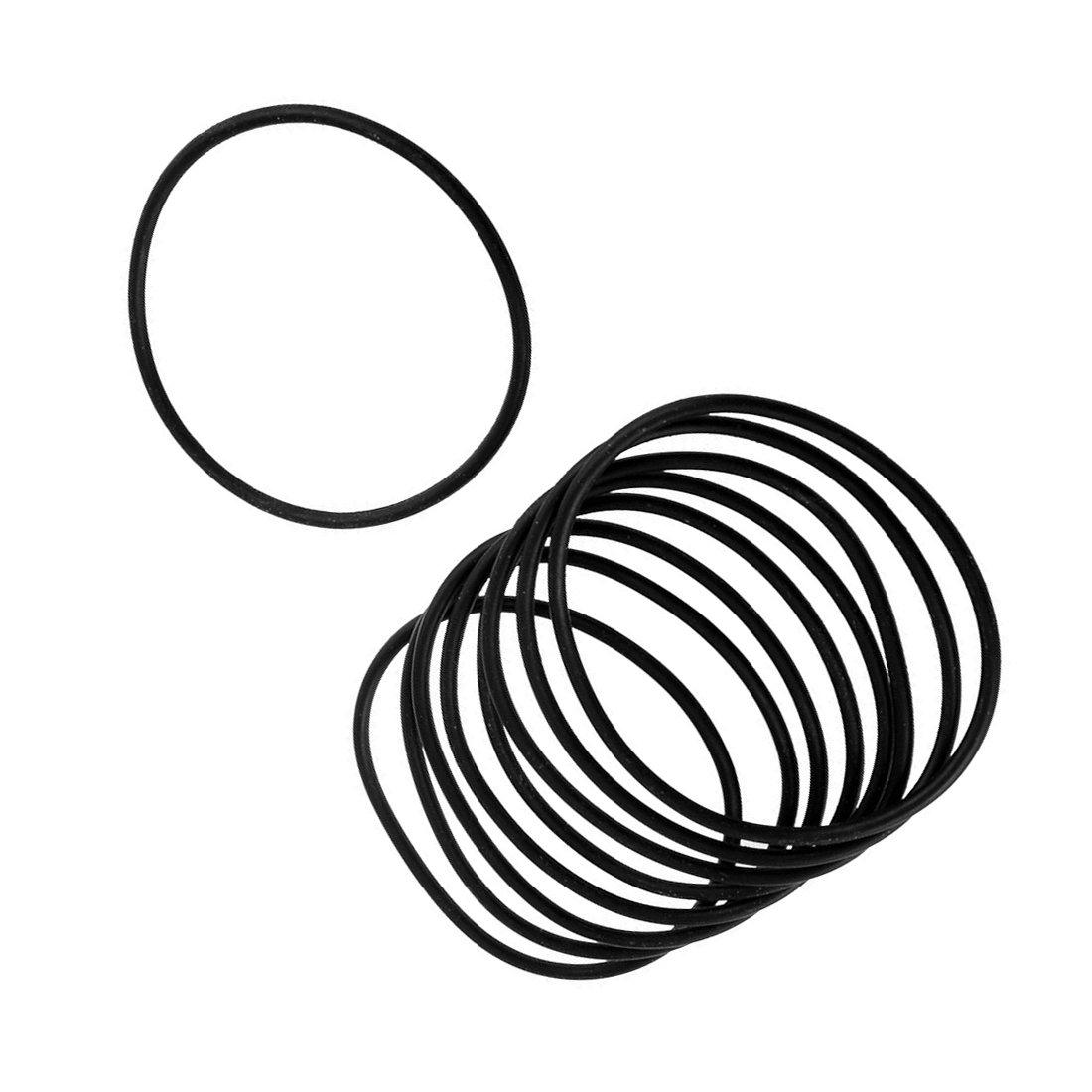 R 10 PCS Schwarz Gummi Oil Seal O-Ring Dichtung Unterlegscheiben 75x3x69mm O-Ring Dichtung Unterlegscheiben TOOGOO