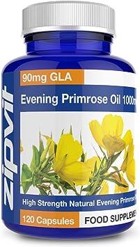 Aceite de onagra 1000mg con Omega 6 90mg, 120 Cápsulas. Para Equilibrio Hormonal, Menopausia y Síndrome Premenstrual. Hasta 4 meses de suministro: Amazon.es: Salud y cuidado personal