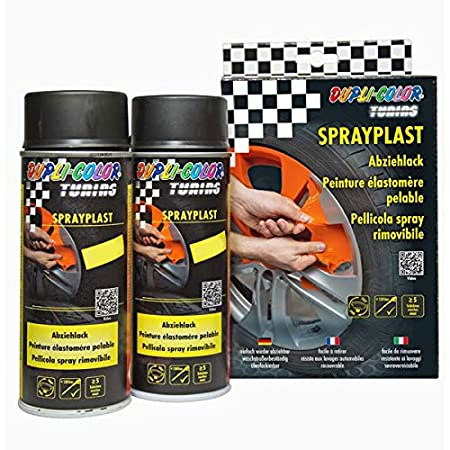 Dupli Color Tuning - Lote de pintura en aerosol (eliminable, 2 unidades de 400 ml, incluye guantes desechables y 1 cabezal de pulverizacià ³ n de chorro amplio variable) in.pro. Herstellungs- und Vertriebsgesellschaft mbH de automotive INPAK