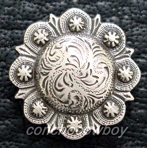 - Conchos for Clothes Western Horse TACK Headstall Saddle Antique Berry Concho 1