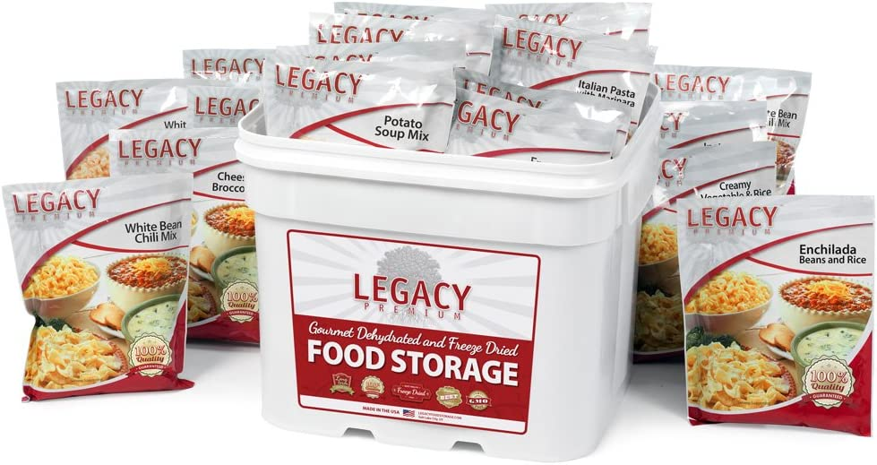 Gluten Free 25 Year Shelf Life Food Storage Supply - 120 Large Servings - 27 Lbs - Wise Emergency Survival Preparedness - Freeze Dried Meals