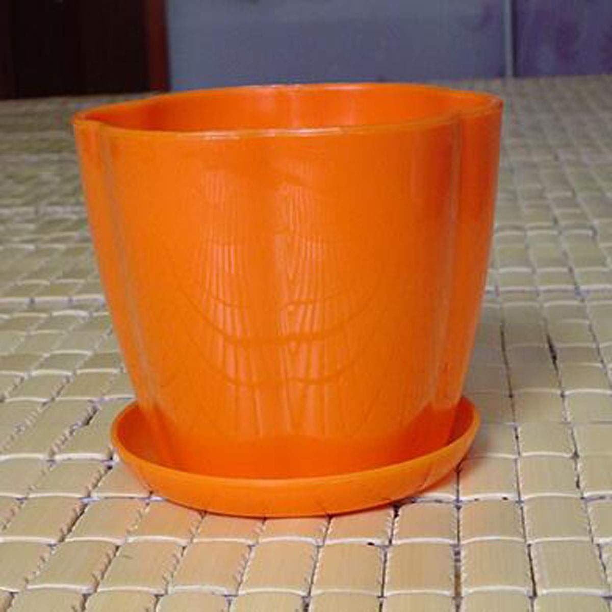 植木鉢、グリーン大根プラスチック植木鉢ラウンド特大バルコニーシンプル肉肥厚クリエイティブ家庭用植木鉢トレイ、10セット (Color : Orange, Size : 13*12cm) B07RV2MDRX Orange 13*12cm