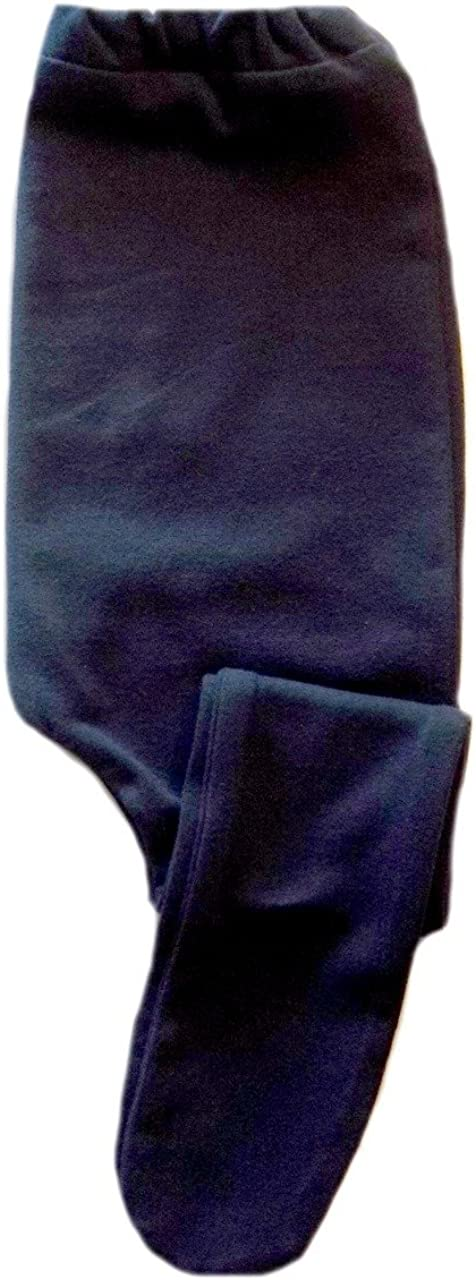 Jacquis Baby Girls Navy Blue Cotton Spandex Knit Tights Small Newborn