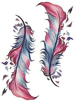 Estilos diferentes plumas colores Temporal Tatuajes Moda Tatuajes ...
