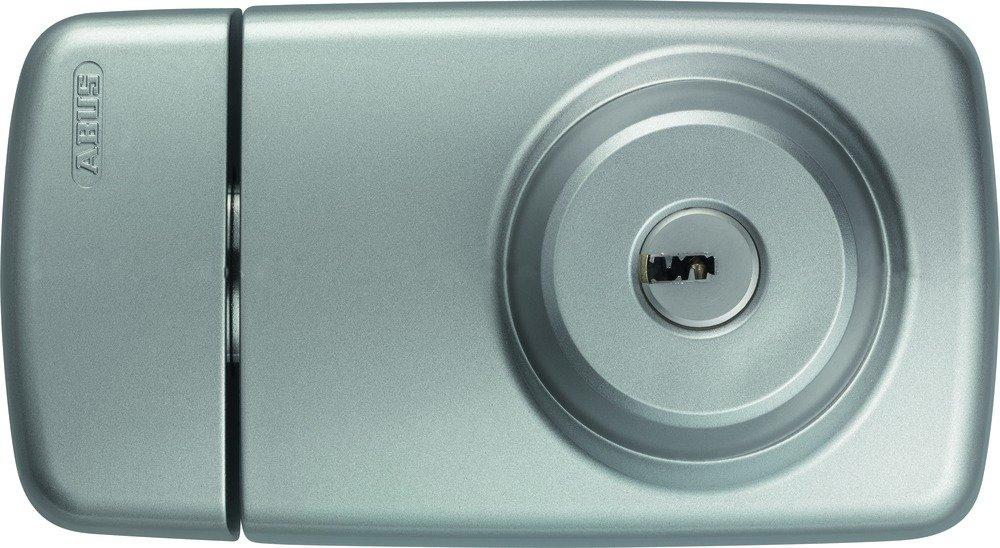 ABUS 532979 7025 W Verrou supplé mentaire de porte avec cylindres externe et interne Blanc