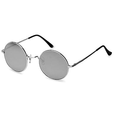 ca51281ed9b57d CASPAR - SG038 - Lunettes de soleil rondes unisexe style hippie rétro en  métal - verres