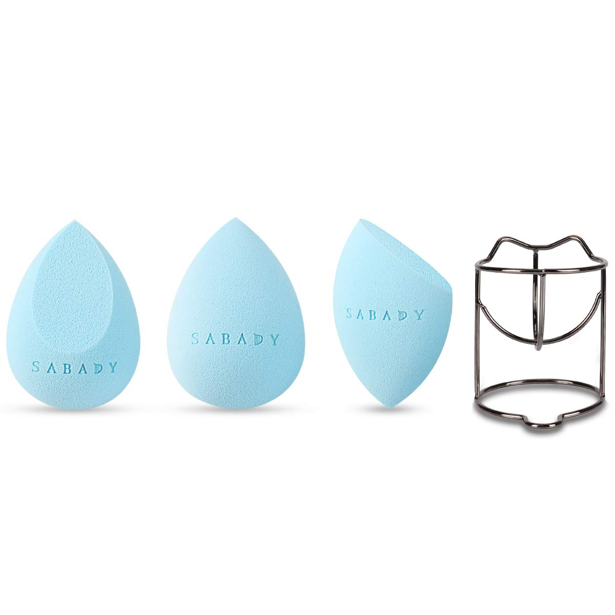 SABADY MAKEUP Beauty Sponge Blenders Set With Travel Cases,BlackGold Holder, Multi-shaped,Durable,Soft,Latex-free Blending Sponges Perfect for Foundation,Concealer,Cream,Sensitive and All Skin Types