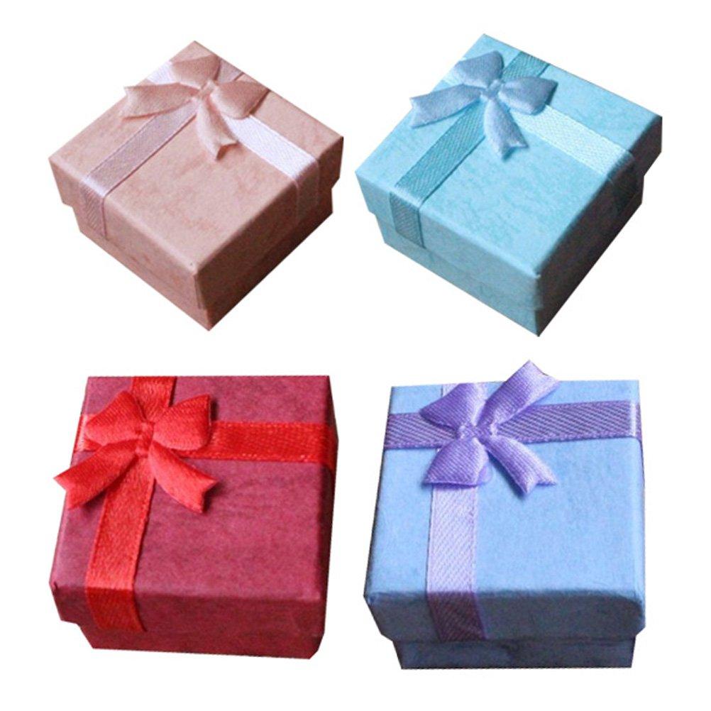 Women/'s Case Packing Gift Box Ring Earrings Necklace Bracelet Bowknot Rectangle