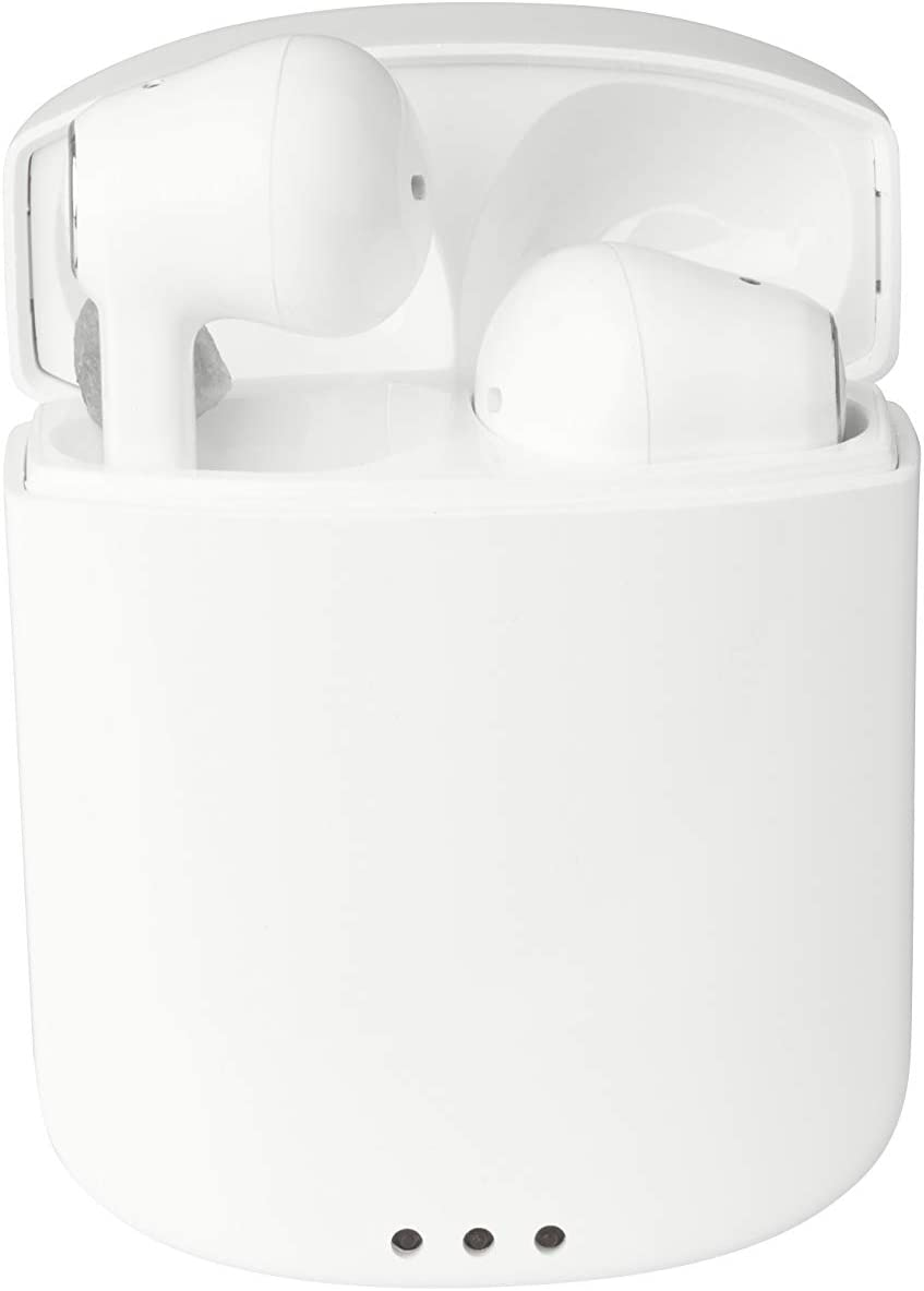 Altec Lansing MZX634 True Evo Air Wireless Earbuds with Wireless Charging Case | Durable Bluetooth Earbuds, Portable Charging Case, Long Battery Life, IPX-6 Protection from Sweat and Rain (White)