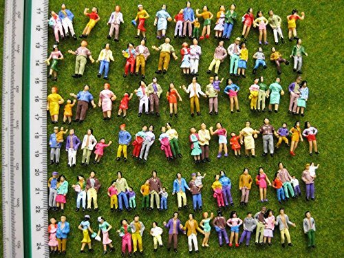 People Ho Scale - Evemodel P100W Model Trains 1:87 Painted Figures HO TT