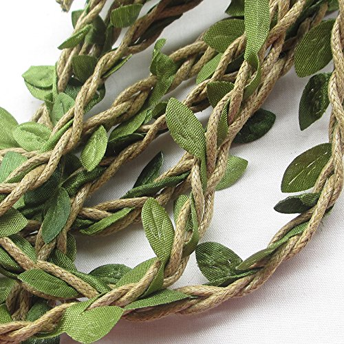 10M Artificial Vine Fake Foliage Leaf Plant Garland Rustic Wedding Home Decor