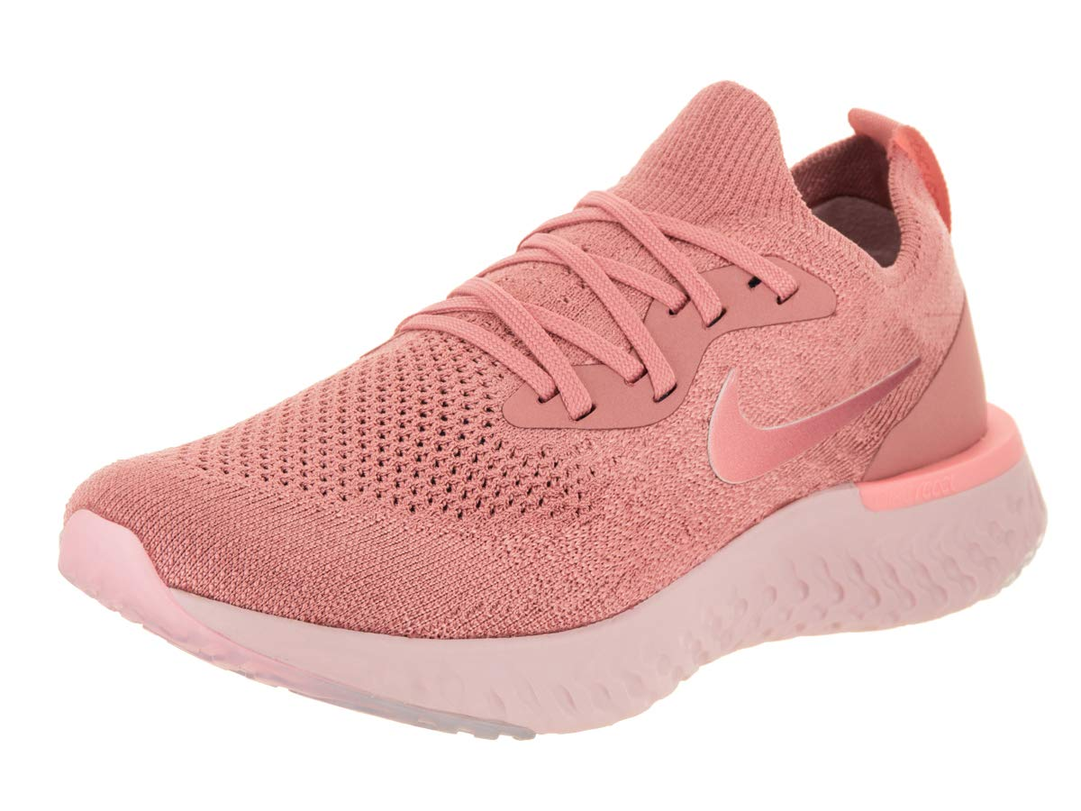 best cheap 9c076 e8926 Galleon - NIKE Women s Epic React Flyknit Rust Pink Pink Tint Running Shoe  7.5 Women US