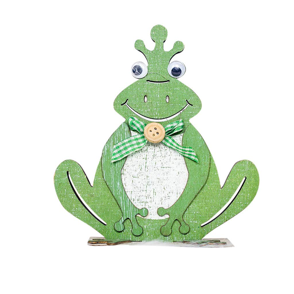 YOcheerful Sales! Easter Frog Decorations Wooden Toad Shapes Ornaments Craft Gifts Best Gift for Boyfriend