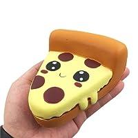 Mecohe Carina Pizza dei Cartoni Animati Fascino Super Lento Rimbalzo Morbido Spremere Giocattoli, Giocattolo Alleviare lo Stress Funny Collezione per Bambini o Adulti