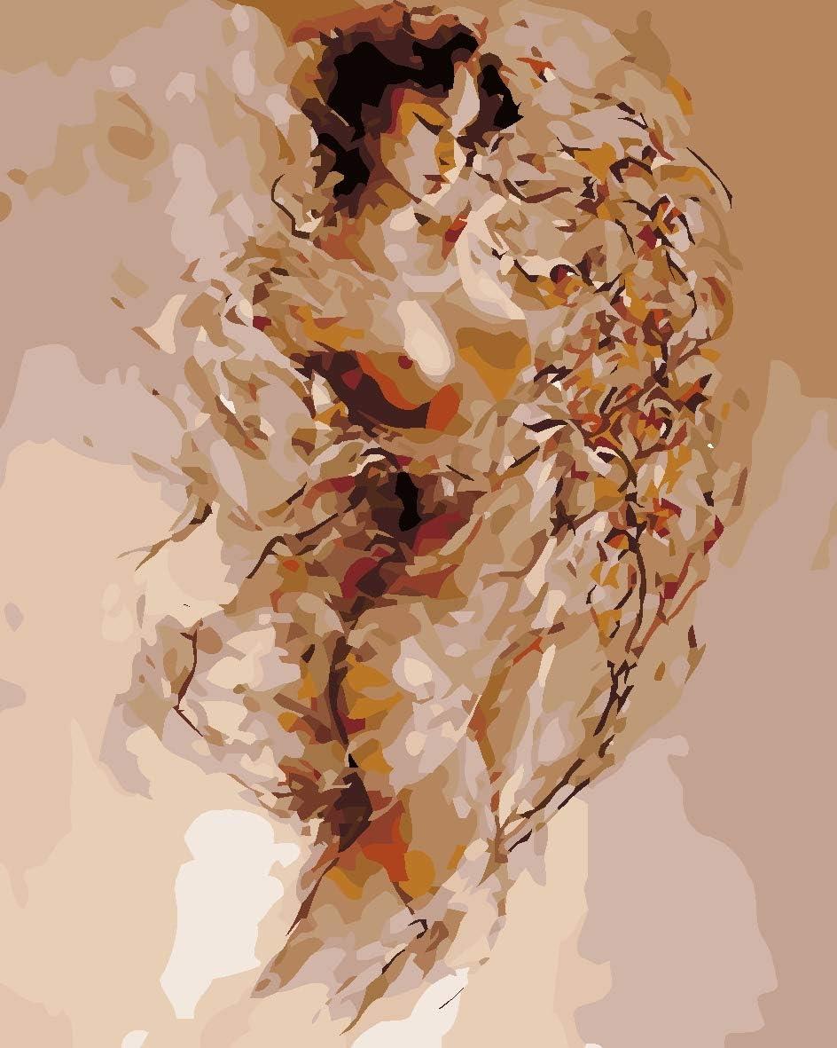 HHANN Pintura Digital Al Óleo para Adultos Niños,Pintura por Número Kit 40X50Cm Arte Abstracto del Cuerpo De La Mujer Lino Lona DIY Pintura Al Óleo Cumpleaños,Decoraciones para El Hoga