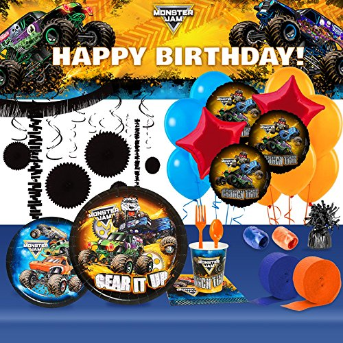 Halloween Party 7' Dessert Plates - BirthdayExpress Monster Jam Party Supplies Ultimate Kit for 8