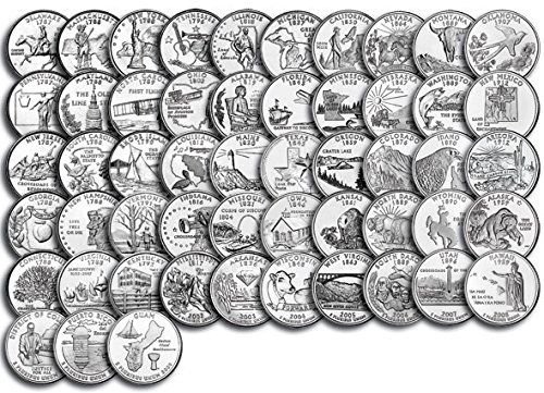 1999 P Complete 1999 thru 2009 P 56-coin B.U State Quarter Set Uncirculated