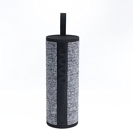 Bluetooth Wireless Speaker Fabric 360 Surround Sound I Portable Outdoor, Indoor Splash Proof Protection IPX4 I Deep Bass, 20 Hour Battery Life, Hands Free mic I Natural Linen Fabric by Reveal Shop