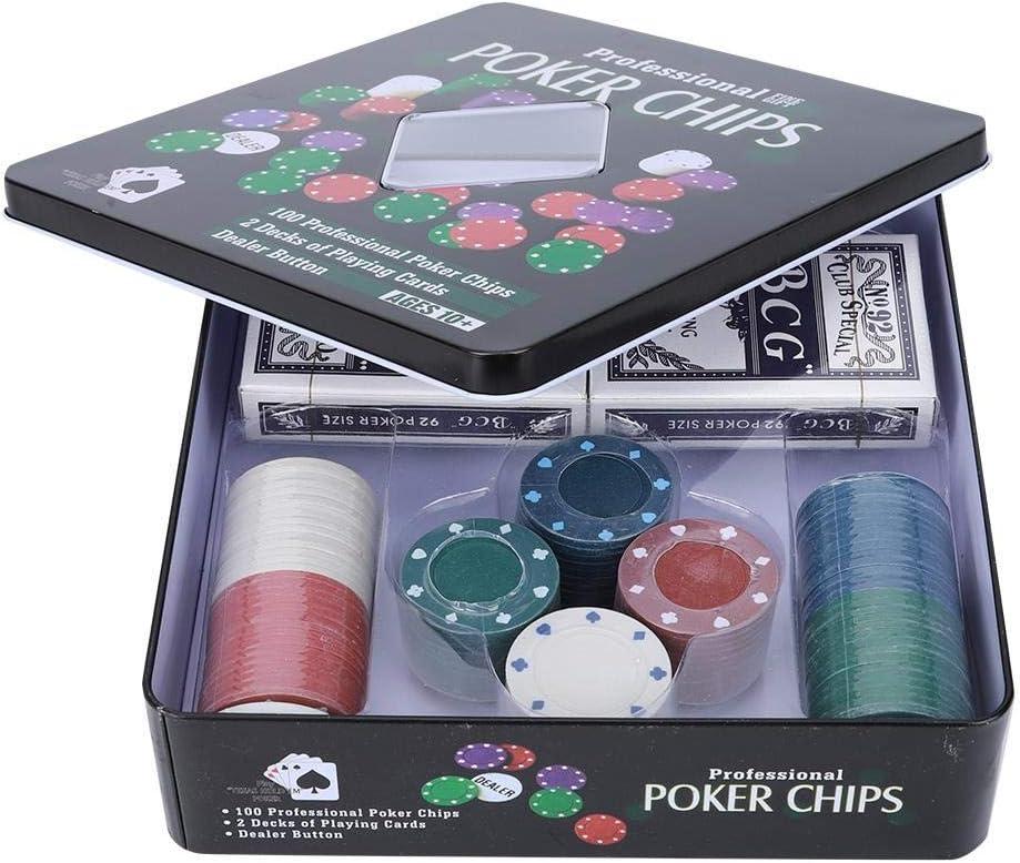 Ever Tarjetas de póker, 100PCS Tarjetas de fichas de póker con Estuche portátil para Texas Holdem Black Jack: Amazon.es: Deportes y aire libre