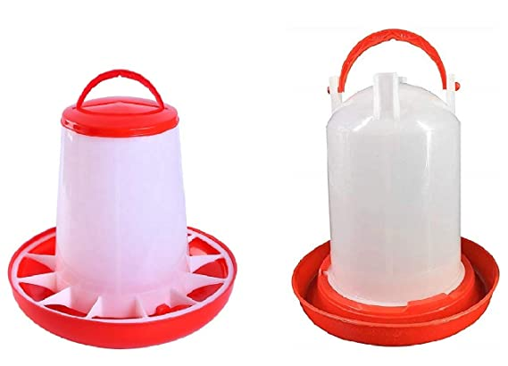 Poultry Feeder and Waterer Kit for Chick Durable Plastic Fount for Up to 12 Chickens,Broilers Easy to Clean,Highly Practical