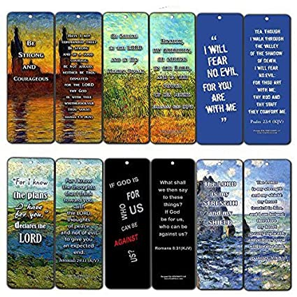 NewEights Christian KJV Bookmarks Cards - Be Strong (60-Pack) - Jeremiah 29