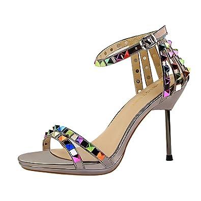 33d2cd5bc063 Y2Y Studio Women s Fashion Sandals Orange Size  2 UK  Amazon.co.uk ...