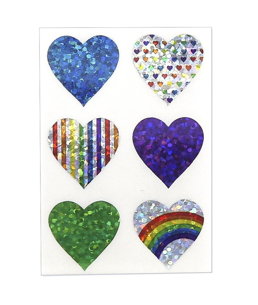 Inc Colored Gold Foil Heart Stickers 20 Sheets 18581 Hygloss Products