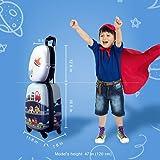 "Winsday 18"" Kids Carry On Luggage Set Upright Hard"
