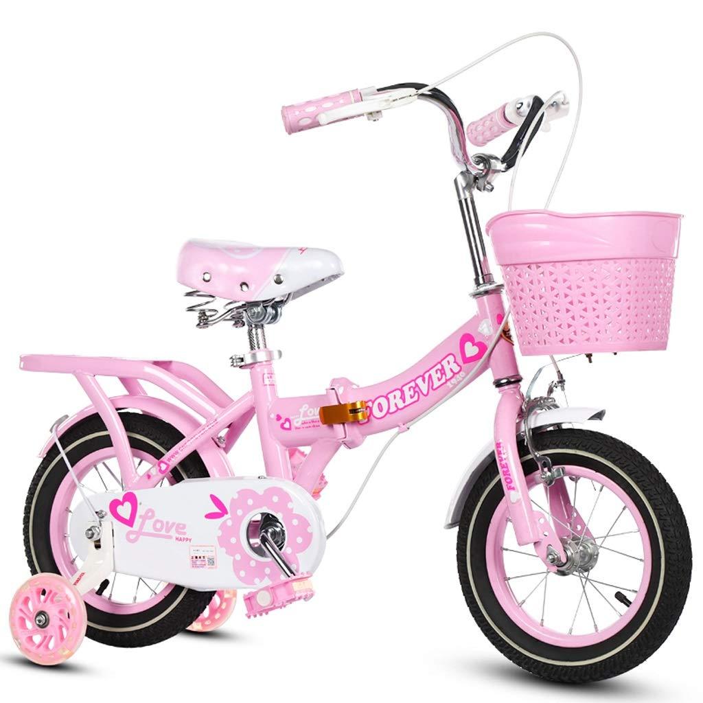 3-6-7-8-9-10歳に適した子供の自転車折りたたみ自転車の女の子の自転車 16in 2 B07QRSQGWM