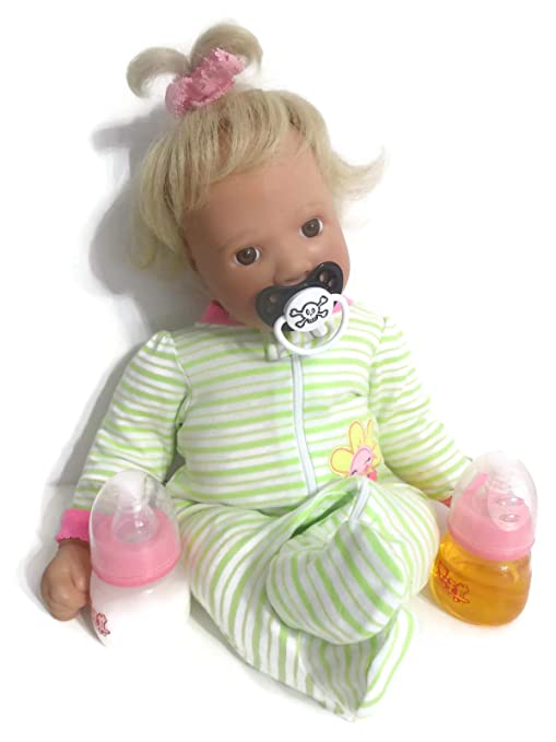 Amazon.com: Muñeca bebé botella 2oz rosa jugo de leche + ...