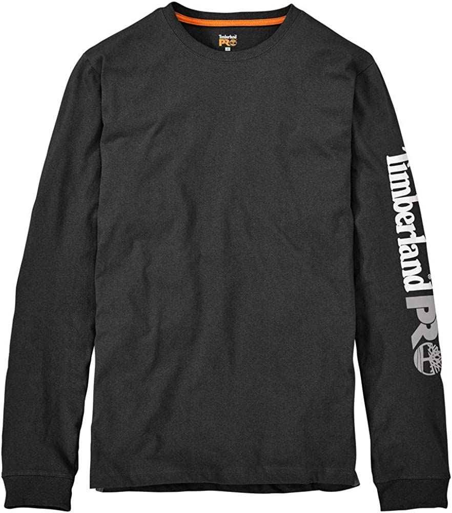 Timberland PRO Mens Big and Tall Base Plate Blended Logo Long-Sleeve T-Shirt, Black, Small: Amazon.es: Ropa y accesorios