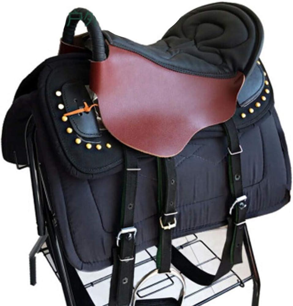 Equipamiento para caballos Mobiliario de silla de montar Expositor de silla Adornos de silla de montar Juego completo de taburete, Amortiguación Cómodo Práctico para ecuestre de ca Dark brown+black
