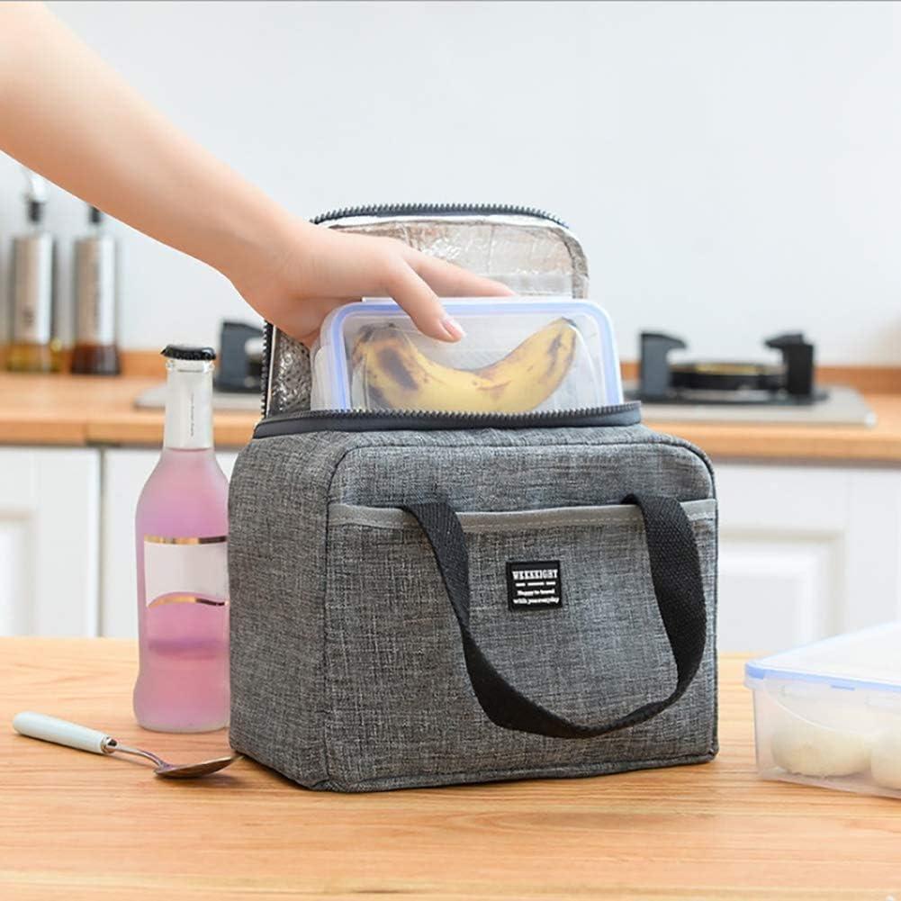 Oxford Stoff Lunchpaket Tasche Wasserdicht Ölbeständig Tragbar Draussen DE