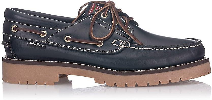 Snipe Zapato Náutico Negro para Hombre Cuero