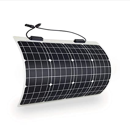 side facing renogy 50 watt flexible solar panel