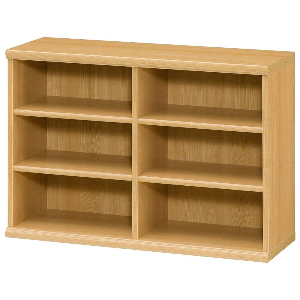色とサイズが選べるオープン本棚 幅86.5cm高さ60cm 545404(サイズはありません オ:ナチュラル) B079BBQG88  オ:ナチュラル