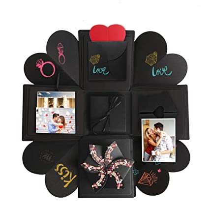 Somei Diy Creative Explosion Gift Box Kit Including Instruction Surprise Scrapbook Photo Album For Propose Birthday Wedding Valentines Anniversary