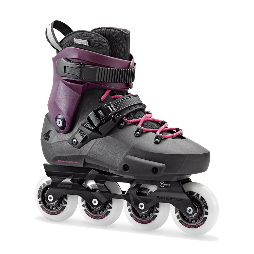 Rollerblade Twister Edge Women's Adult Fitness Inline Skate, Black and Purple, High Performance Inline Skates
